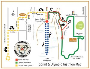 Sprint & Olympic Triathlon Map