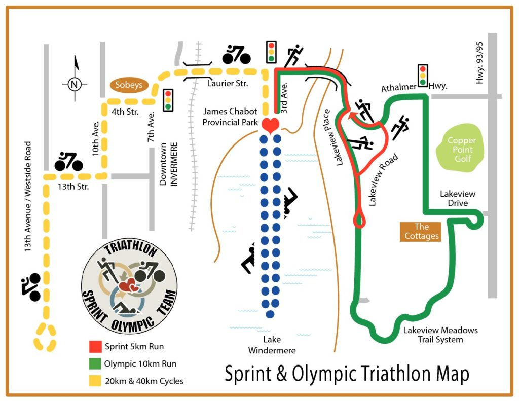 Sprint & Olympic Triathlon Map