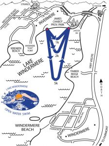 Heart of The Rockies Swim Course Map